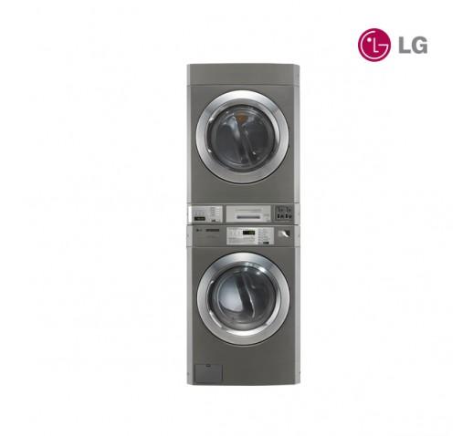 GIANT-C+ – Lavadora y Secadora Comercial Apilable (Sist. A Moneda) LG