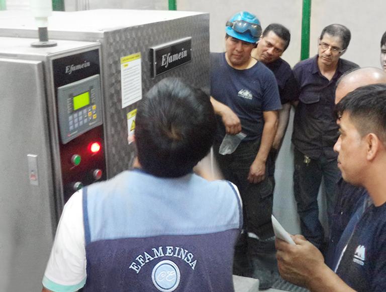 Capacitación en lavadoras industriales