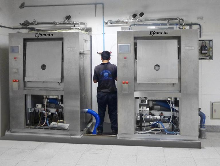 Instalación electromecánica de lavadoras y secadoras industriales