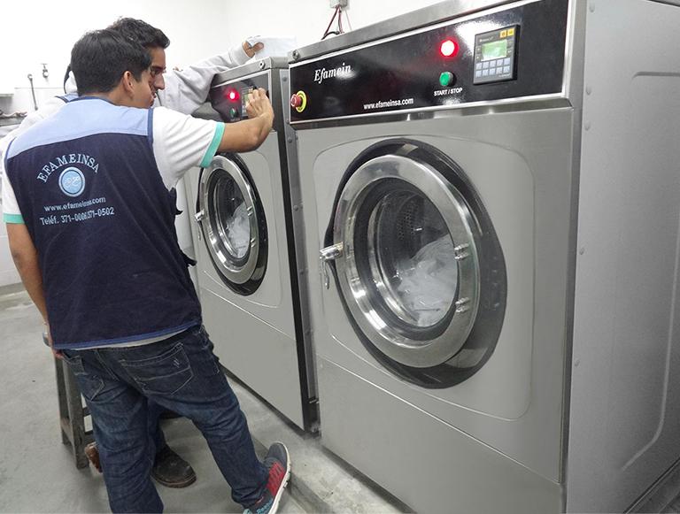 Instalación electromecánica de lavadoras industriales